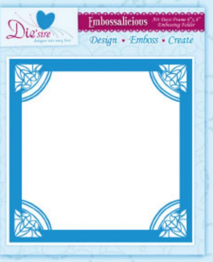 ART DECO FRAME ~ 8x8 ~ CRAFTERS COMPANION ~EMBOSSALICIOUS